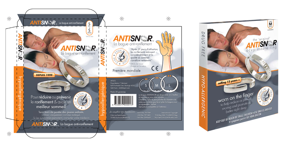 antisnor creation packaging